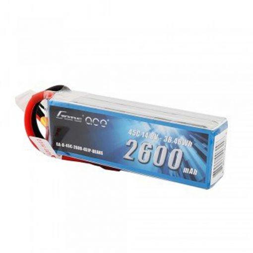 2600mAh 14.8V 45C 4S1P Lipo Battery Pack w/ Deans