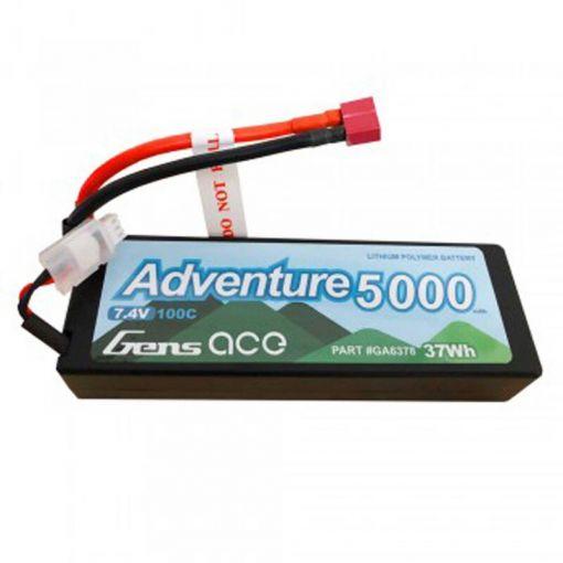 5000mAh 7.4V 100C 2S1P Lipo w/ Deans - Adventure