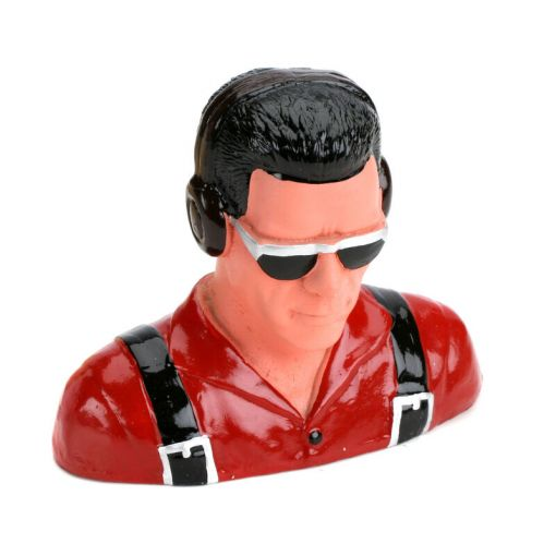 1/5 Pilot,Civilian w/Headphones&Sunglasses (Red)