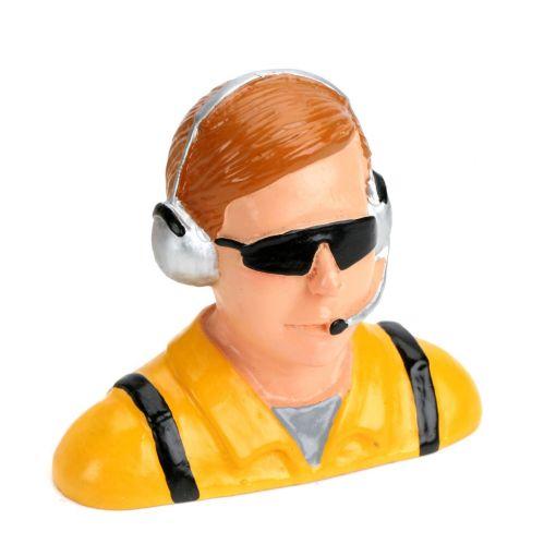 1/4 Pilot, Civilian with Headset & Mic, Sunglasses
