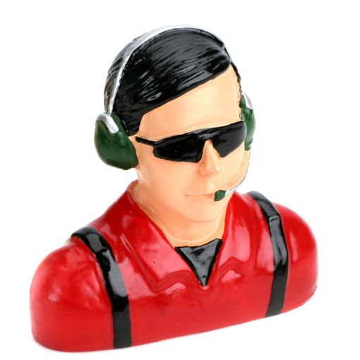 1/4 Pilot - Civilian with Headets, Mic&Sunglasses