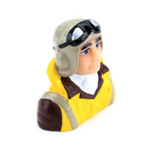 1/8 Scale WWII Pilot with Vest, Helmet & Goggles