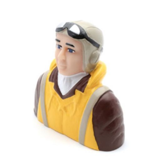1/4 Scale WWII Pilot with Vest, Helmet & Goggles