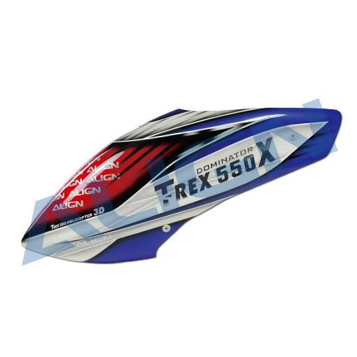 550X Painted Canopy - Red/Blue