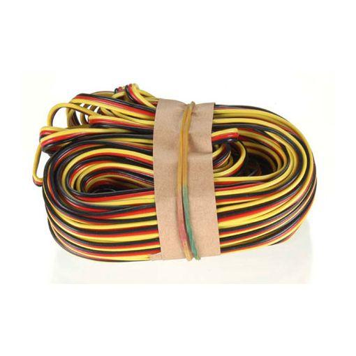 50' 3-Color Heavy Gauge Servo Wire