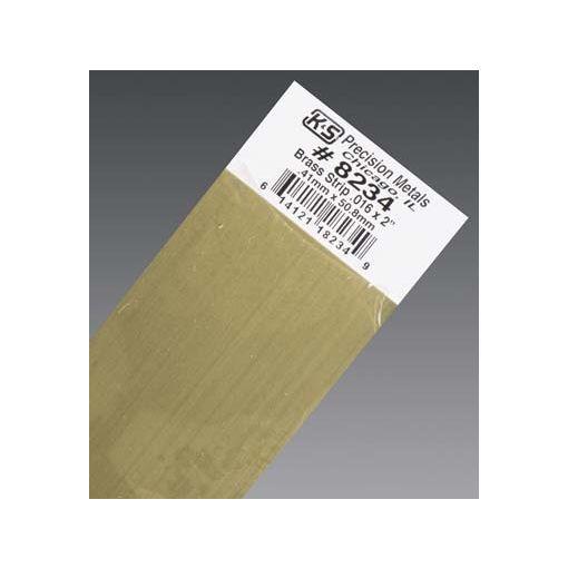 """.016 x 2\"""" Brass Strip (1 pc per card)"""