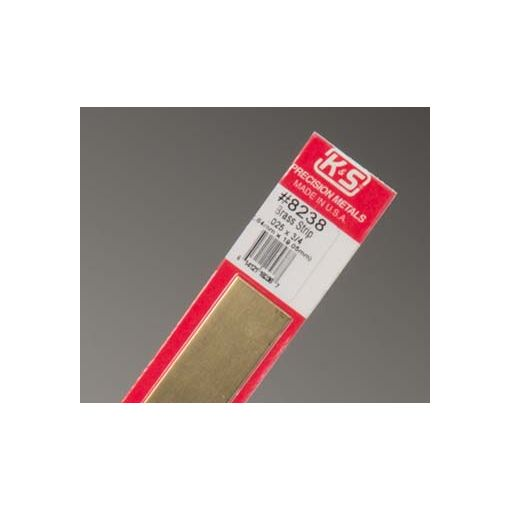 ".025 x 3/4"" Brass Strip (1 pc per card)"
