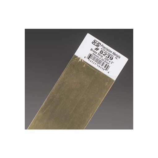 """.025 x 2\"""" Brass Strip (1 pc per card)"""