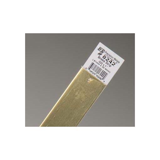 """.032 x 1\"""" Brass Strip (1 pc per card)"""