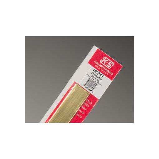 """.064 x 3/4\"""" Brass Strip (1 pc per card)"""
