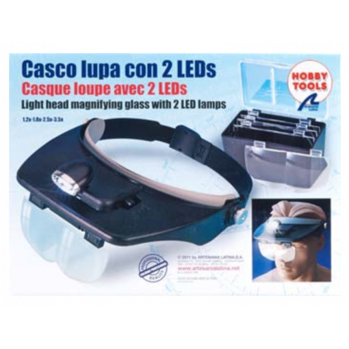 270541 Hands Free Magnifier Glasses w/2 LED Lights