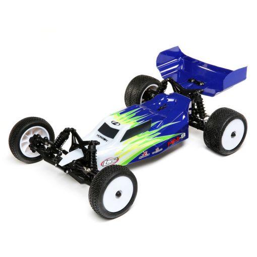 1/16 Mini-B, Brushed, RTR 2WD Buggy, Blue/White