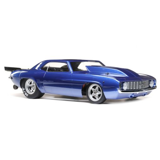 1/10 '69 Camaro 22S No Prep Drag Car, Brushless 2WD RTR, Blue