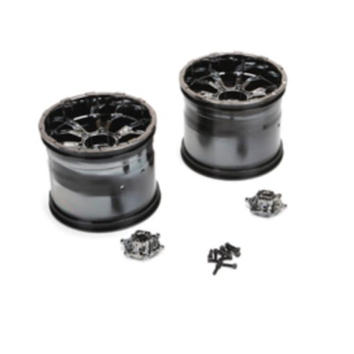 420S Force Wheel w/cap, Blk Chrome (2): LST
