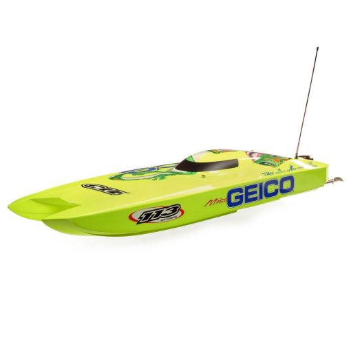 Miss GEICO Zelos 36 Twin Brushless Catamaran: RTR