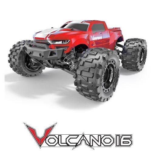 1/16 Volcano-16 Brushed Monster Truck - Red