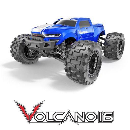 1/16 Volcano-16 Brushed Monster Truck - Blue