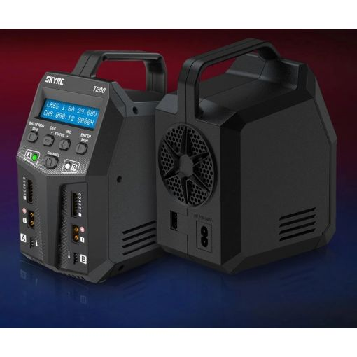 SkyRC T200 Dual Balance Charger / Discharger 100W X 2, 12A