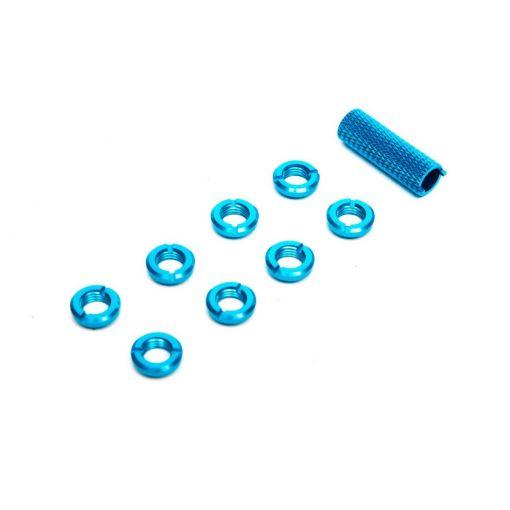 Spektrum Radio Blue Switch Nuts (8) & Wrench