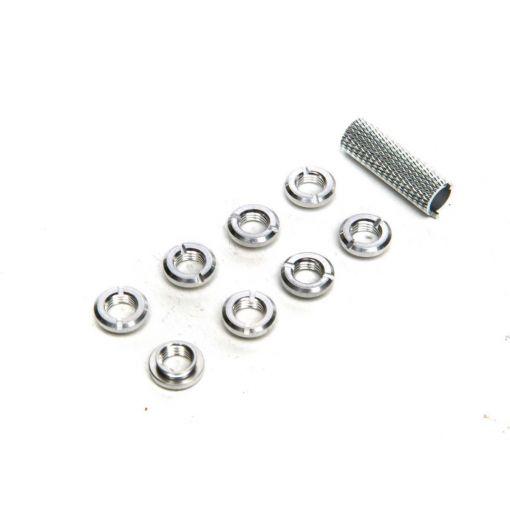 Spektrum Radio Silver Switch Nuts (8) & Wrench