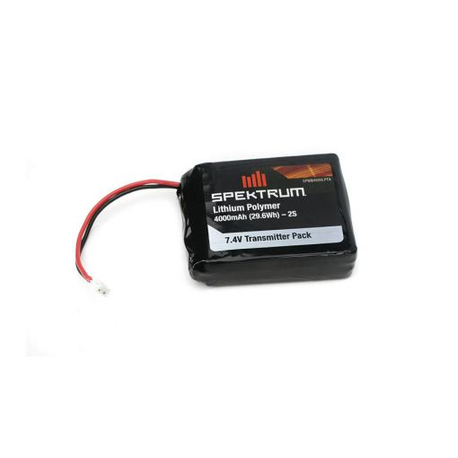 4000mAh LiPo Transmitter Battery: DX7s, DX8