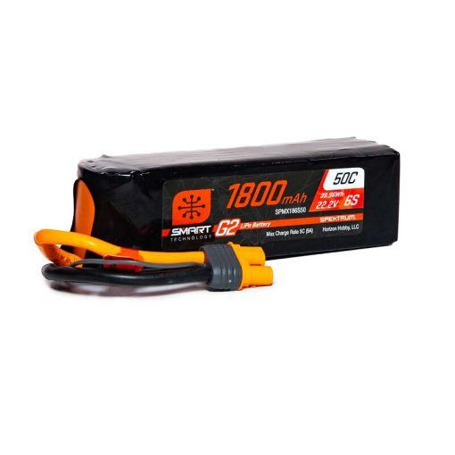 1800mAh 6S 22.2V Smart G2 LiPo 50C; IC3