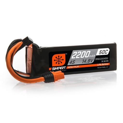 2200mAh 4S 14.8V 50C Smart LiPo Battery; IC3