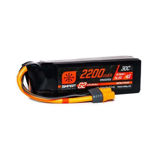 2200mAh 4S 14.8V Smart G2 LiPo 30C; IC3
