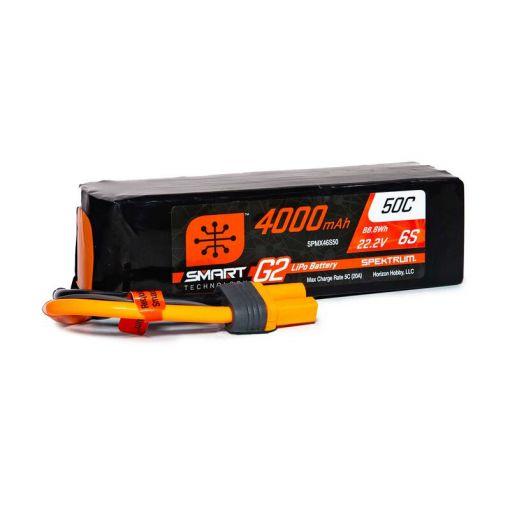 4000mAh 6S 22.2V Smart G2 LiPo 50C; IC5