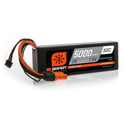 5000mAh 2S 7.4V 50C Smart LiPo Hardcase; IC5