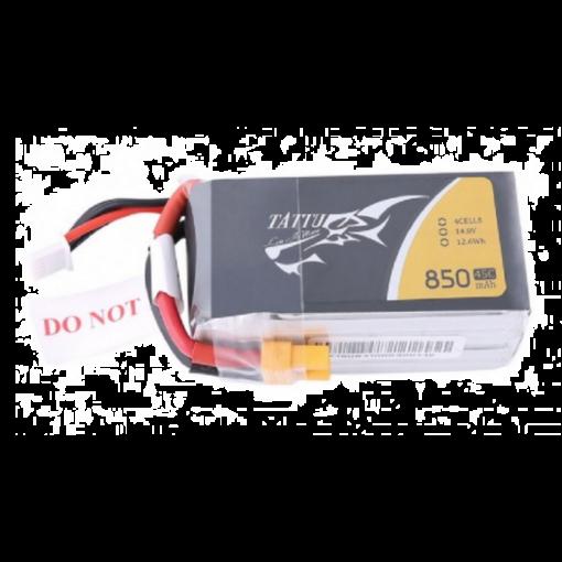 850mAh 4S1P 14.8V 45C 4S1P Lipo XT30 Plug - Tattu