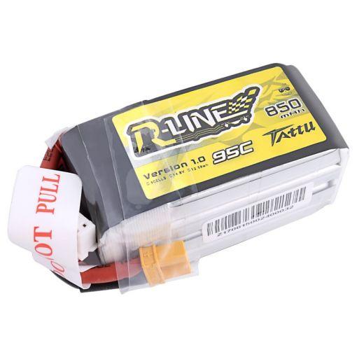 850mAh 4S1P 95C LiPo XT30 Plug Soft Case - R-Line Tattu