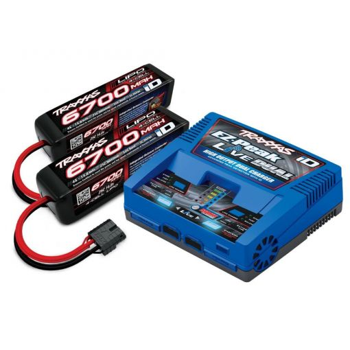 Traxxas EZ-Peak Dual Live 4S Completer Pack with 2 6400mAh LiPos