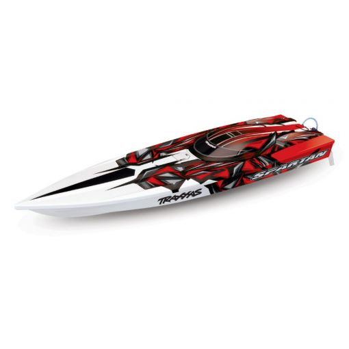 """Traxxas Spartan Brushless 36"""" Race Boat, Red"""