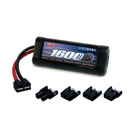 6C 7.2V 1600mAh NiMH Battery, 1/16: UNI Plug
