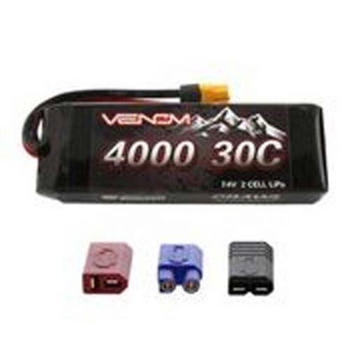 4000mAh 30C 2S 7.4V Rock Crawler LiPo Batt UNI