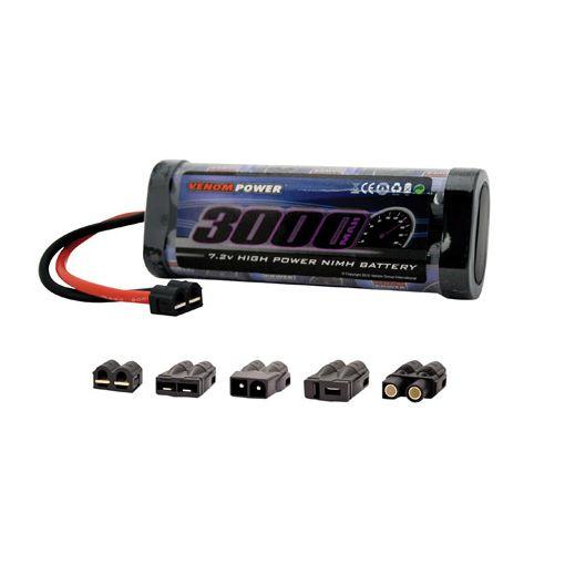 6-Cell 7.2V 3000mAh NiMH Flat Battery:UNI 1.0Plug