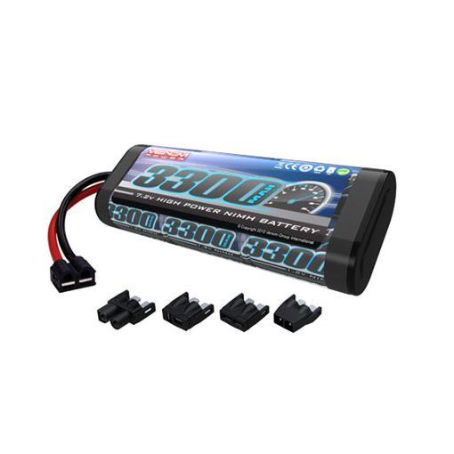 6-Cell 7.2V 3300mAh NiMH Flat Battery: UNI Plug
