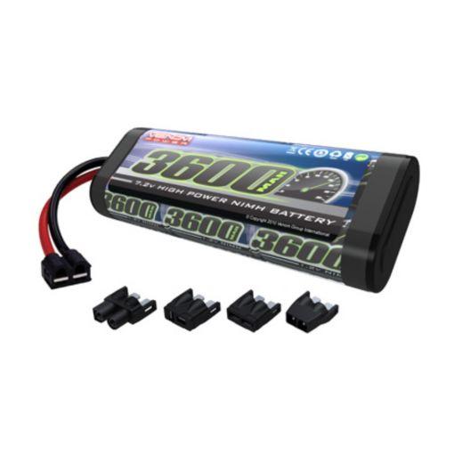 6-Cell 7.2V 3600mAh NiMH Flat Battery: UNI Plug