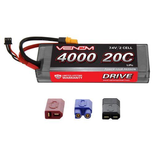 4000mAh 20C 2S 7.4V LiPo HC Drive  : UNI 2.0 Plug