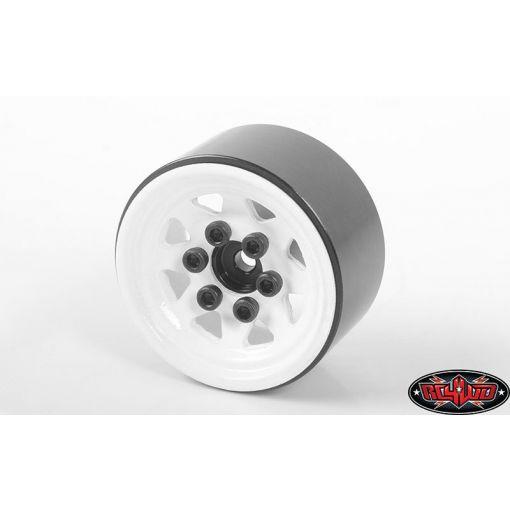 Stamped Steel 1.0'' Stock Beadlock Wheels (White)