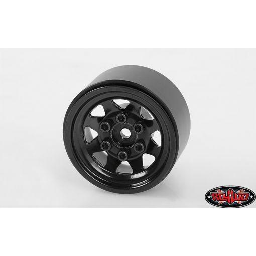 Stamped Steel 1.0 Stock Beadlock Wheel, Black (4)