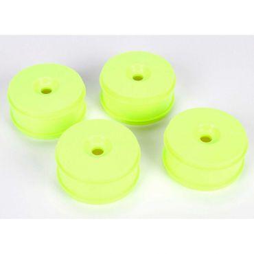 1/8 Buggy Dish Wheel, Yellow (4): 8IGHT Buggy 3.0