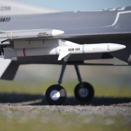 CNC Metal FMS F-16C 70mm EDF Jet Electric Retract Nose Landing Gear Set